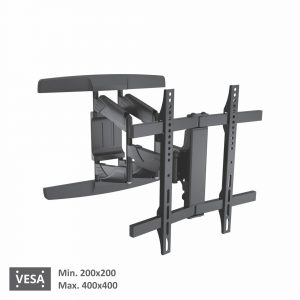 Bervin Wall Bracket Motion untuk Curved TV 40″ – 80″